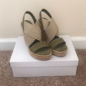 Ralph Lauren Cross Cross Wedge Sandals